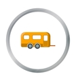 Caravan icon of for web and vector image
