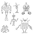cartoon robot set02 vector image