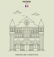 church notre-dame-la-grande in poitier vector image vector image