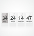 Countdown 1 vector image vector image