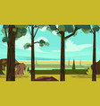 cute cartoon seamless landscape with separated vector image vector image