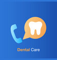 dental care concept dental service information vector image