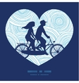doodle circle water texture couple on tandem vector image vector image