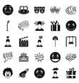 emotional icons set simple style vector image vector image