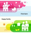 Family Banners Set vector image