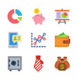 finance and money colored trendy icon pack 2 vector image