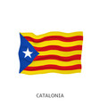 flag catalonia vector image vector image