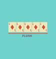 flat icon on stylish background poker flush vector image vector image