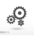 Gear flat Icon Sign gears logo for web design vector image vector image