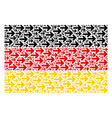 germany flag collage of right arrow items vector image vector image