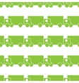 Green trucks seamless pattern vector image vector image