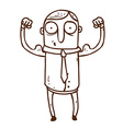 Hand Drawn Muscly Man vector image vector image