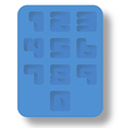 ice tray number vector image
