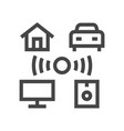 internet things smart house line icons vector image vector image