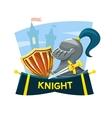 Knight concept design vector image vector image