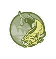 Largemouth Bass Fish vector image