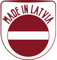 made in latvia sign vector image