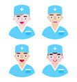 medical staff on white background vector image