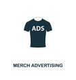 merch advertising icon premium style design from vector image