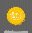 merry christmas lettering text into winter vector image vector image
