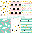 mothers day trendy seamless patterns vector image