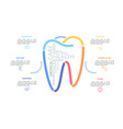 multicolored lines forming tooth sign surrounded vector image