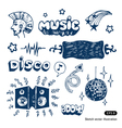 Music elements set vector image vector image