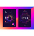music wave poster vector image vector image