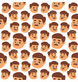 mustache man head character hair hipster vector image vector image