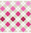 pink argyle harlequin seamless pattern vector image