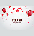 poland celebration background in polish colors vector image vector image