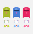post mail boxes vector image vector image