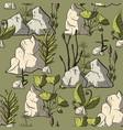 prehistoric plants vector image vector image