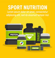 product sport nutrition concept background flat vector image vector image