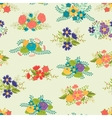 Romantic seamless pattern of floral bouquets in vector image vector image