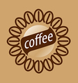 Round logo coffee beans vector image vector image