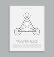 sacred geometric alchemy symbol poster vector image