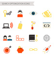 Search Optimization Icons vector image