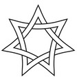 seven pointed star with braided sides star vector image vector image