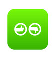 signs hand up and down icon digital green vector image