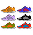sneaker shoe minimal color flat line stroke icon vector image