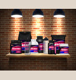 sport nutrition packages realistic vector image vector image