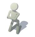 stick man kneeling icon isometric style vector image