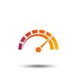 tachometer sign icon revolution-counter symbol vector image vector image