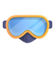 underwater mask icon cartoon style vector image