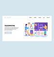 web site design template telecommuting vector image