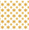Yellow snowflakes for Christmas vector image vector image