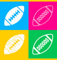 american simple football ball four styles of icon vector image
