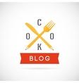 Cook Blog Concept Icon or Logo Template vector image