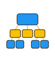 flowchart template in blue and yellow vector image
